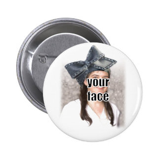 Personalize the Big Bow Hat Button