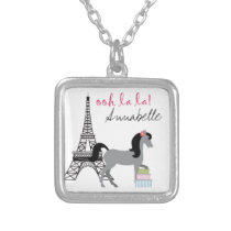 Personalize The Pretty Ponies Paris Horse Necklace