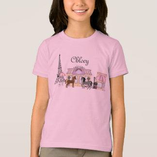 Personalize The Pretty Ponies Paris Horse T-Shirt