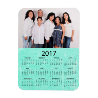 Personalize this 2017 Mini Refrigerator Calendar Rectangular Photo Magnet