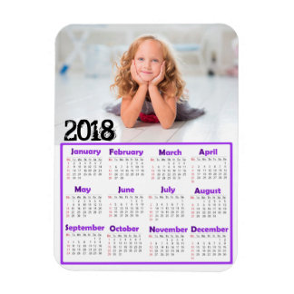 Personalize this 2018 Mini Refrigerator Calendar Magnet