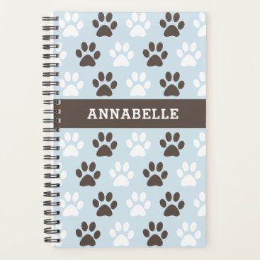 Personalize This Animal Paw Print Pattern Planner