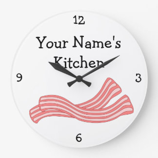 Personalize this Bacon Rashers Food Graphic Wall Clocks