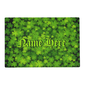 Personalize This Beautiful Irish Shamrocks Placemat