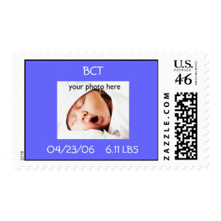 Personalize this Birth Announcement Postage