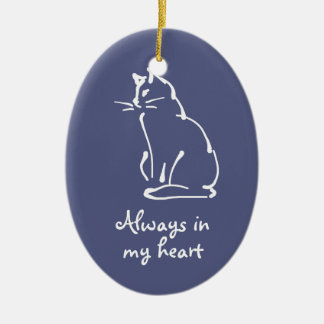 Personalize this Cat Memorial Ornament