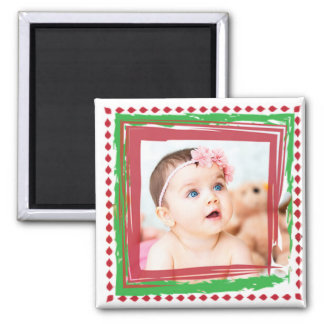 Personalize this Christmas Photo Magnet