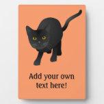 Personalize this cute Black Cat Photo Plaque