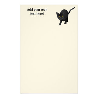Personalize this cute Black Cat Stationery