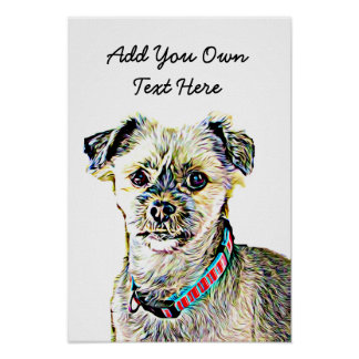 Personalize this Cute Dog Poster with Your Text