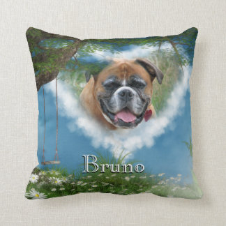 Personalize this Dog in Heaven Pet Memorial Pillow