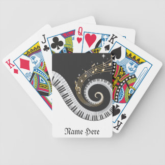 Personalize this Fantasy Piano Music Bicycle® Play Bicycle Playing Cards