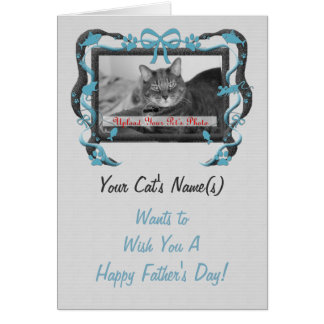 Personalize this Father's Day Card from the Cat!