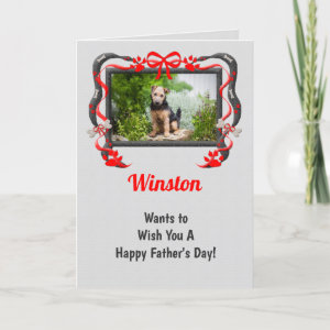 Personalize this Father's Day Card from the Dog! card