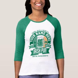 01690ef3a Personalize This | Irish Pub Logo St Patricks Day T-Shirt