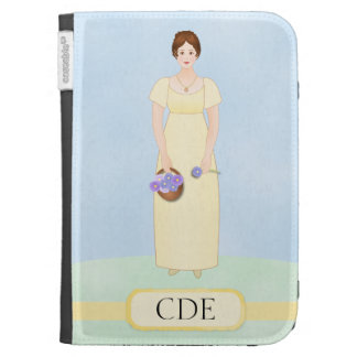 Personalize this Jane Austen Style Regency Girl Kindle Folio Case