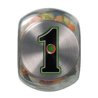Personalize this Lucky Golfer Hole in One Design! Jelly Belly Candy Jar