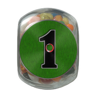 Personalize this Lucky Golfer Hole in One Design! Jelly Belly Candy Jars