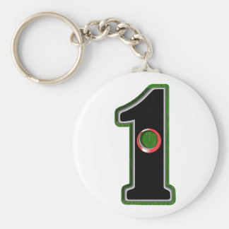 Personalize this Lucky Golfer Hole in One Design! Keychain