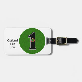 Personalize this Lucky Golfer Hole in One Design! Luggage Tags
