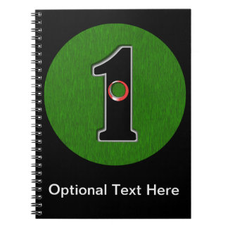 Personalize this Lucky Golfer Hole in One Design! Notebook