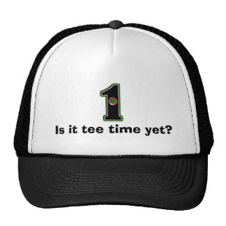 Personalize this Lucky Golfer Hole in One Design! Trucker Hat
