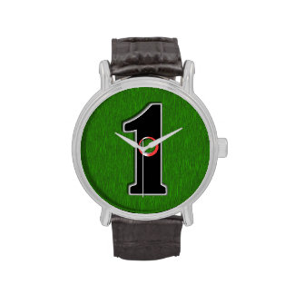 Personalize this Lucky Golfer Hole in One Design! Wrist Watch