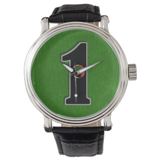 Personalize this Lucky Golfer Hole in One Design! Wrist Watches