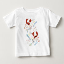 Personalize this Modern Fox  Woodland Pattern Baby T-Shirt