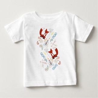 Personalize this Modern Fox  Woodland Pattern Tshirts