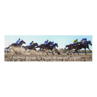 Personalize this motivational Horse Racing Panel Wall Art