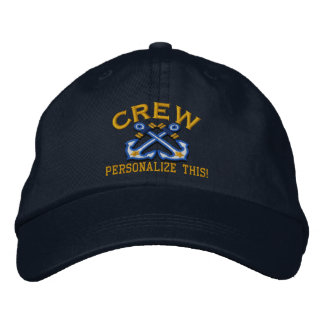 Personalize This Name Location Crew Nautical Embroidered Baseball Hat