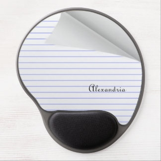 Personalize This Notebook Paper Designed Gel Mouse Pad