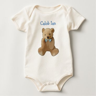 baby_cuteness Personalize this Organic Teddy Bear Romper