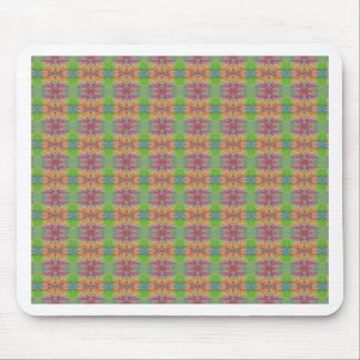 Personalize This Peach Green Plaid Kaleidoscope De Mouse Pad