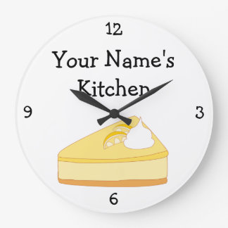 Personalize this Piece of Cheesecake Graphic Clock