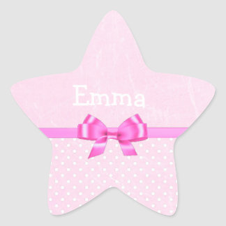 Personalize this Pink Glitter Star Sticker