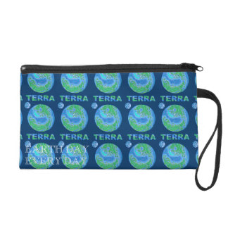 Personalize This Planet Earth Terra Clutch Purse Wristlet Clutch
