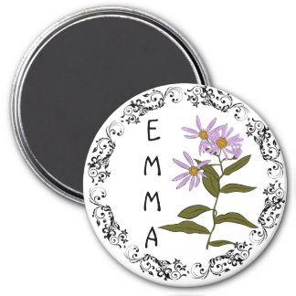 Personalize this Purple Name Magnet