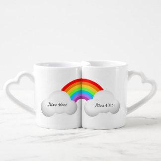 PERSONALIZE this Rainbow Coffee Mug Set