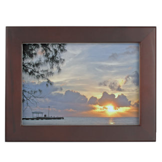 PERSONALIZE THIS ROMANTIC CARIBBEAN SUNSET MEMORY BOXES