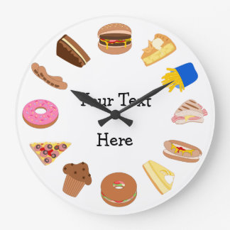 Personalize this Snack Time Graphics Large Clock