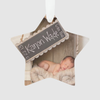 Personalize this Star Shaped Christmas ornament