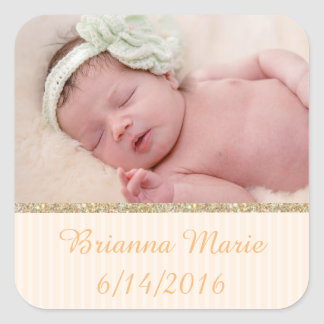 Personalize this sticker with your baby's photo