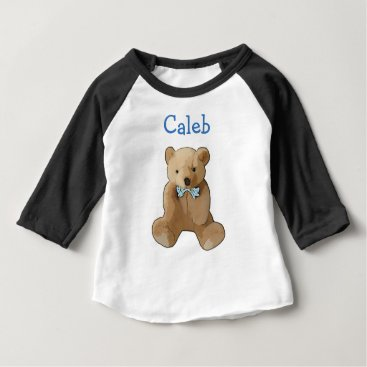 baby_cuteness Personalize this Teddy Bear Baby Boy Shirt