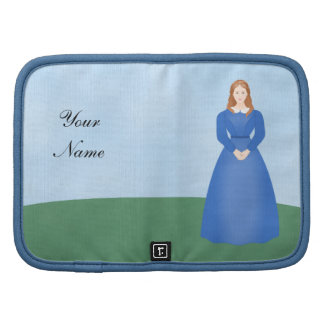 Personalize this Victorian Girl in Long Blue Dress Organizer