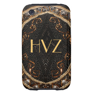 Personalize this Vintage Beaded Purse design iPhone 3 Tough Case