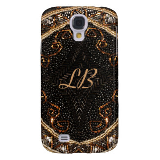 Personalize this Vintage Beaded Purse design Samsung Galaxy S4 Cover