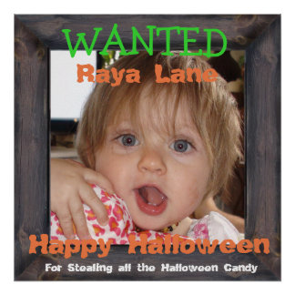 Personalize this Wanted Poster for Halloween