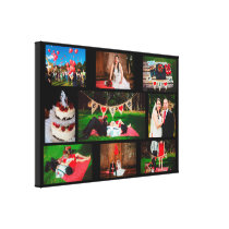 Personalize this Wedding Photo Collage Wall Art